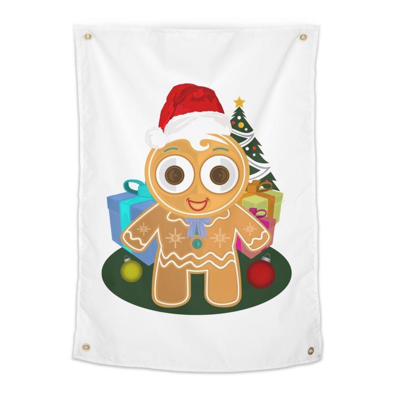 Ginger Bread Man Christmas Home Tapestry by adamzworld's Artist Shop