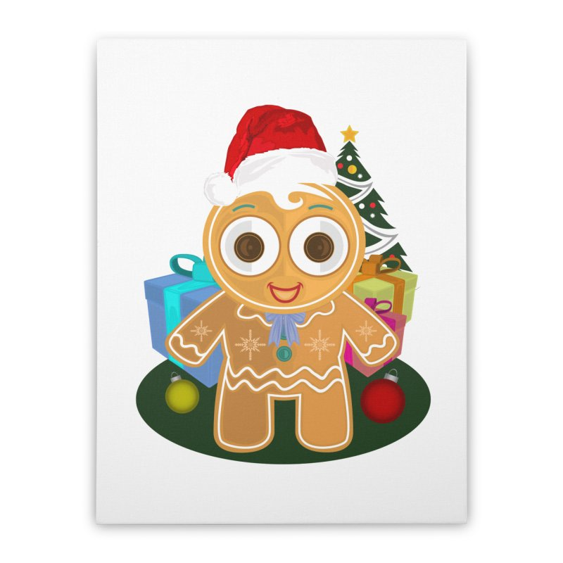Ginger Bread Man Christmas Home Stretched Canvas by adamzworld's Artist Shop