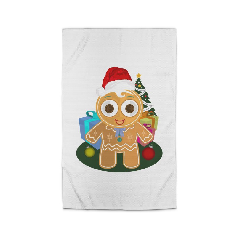 Ginger Bread Man Christmas Home Rug by adamzworld's Artist Shop