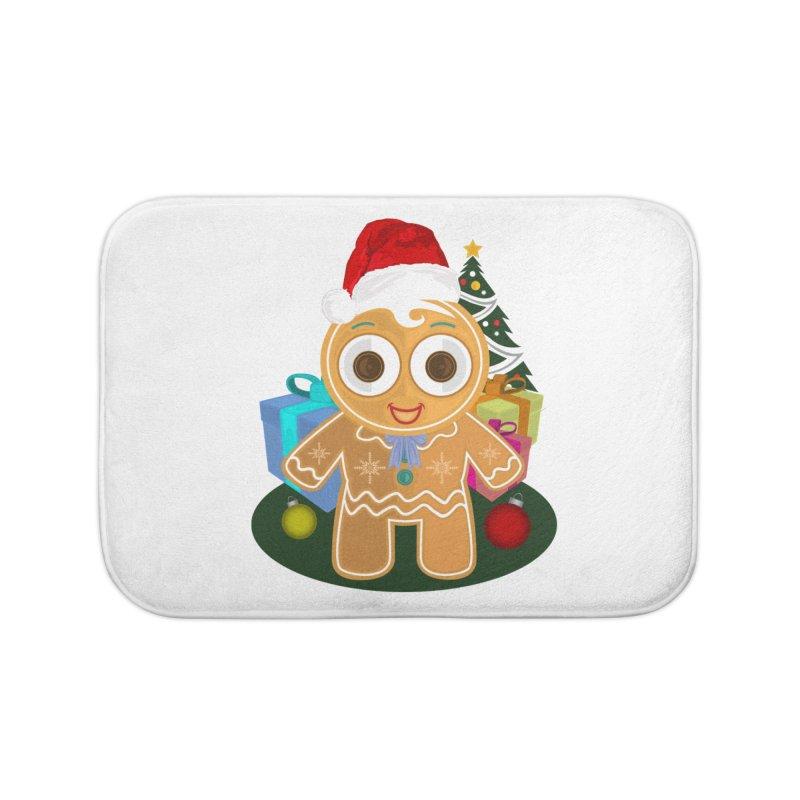 Ginger Bread Man Christmas Home Bath Mat by adamzworld's Artist Shop