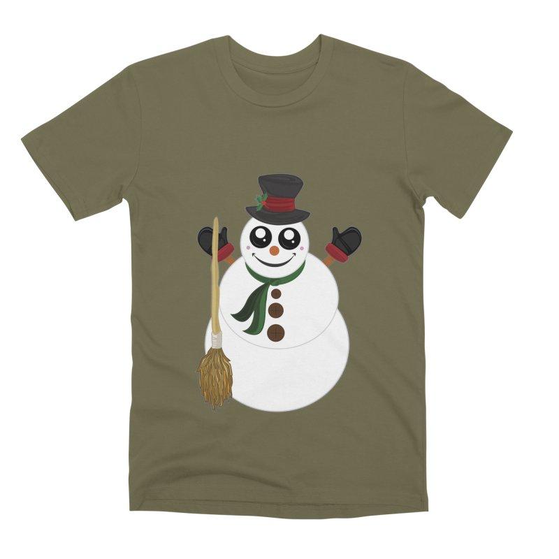 Snowman Men's Premium T-Shirt by adamzworld's Artist Shop