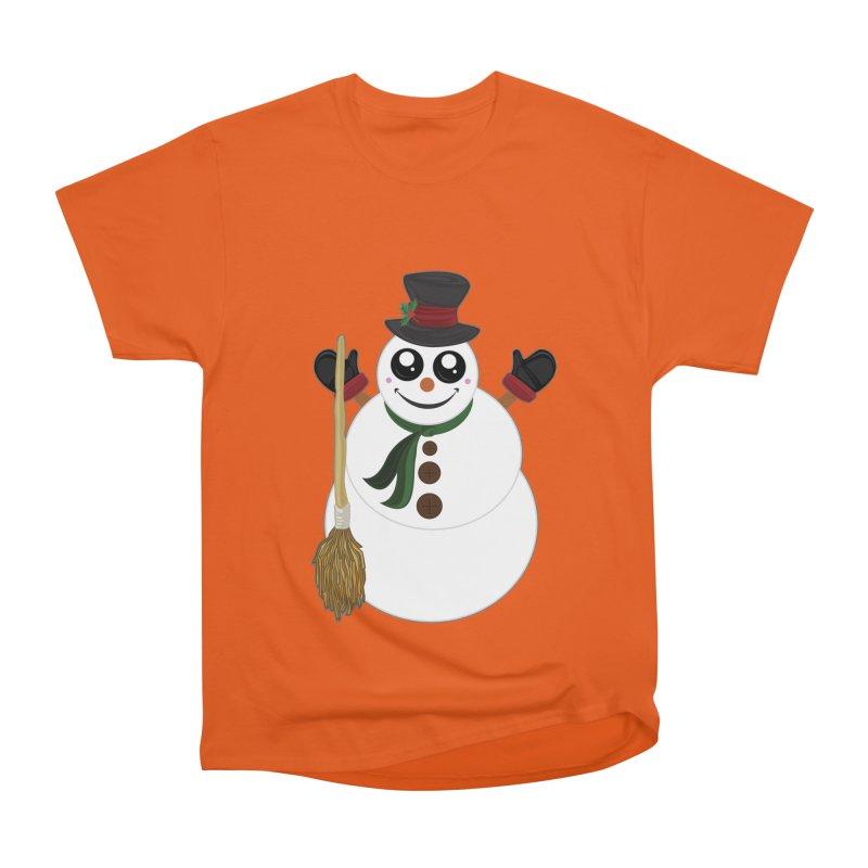 Snowman Men's Heavyweight T-Shirt by adamzworld's Artist Shop