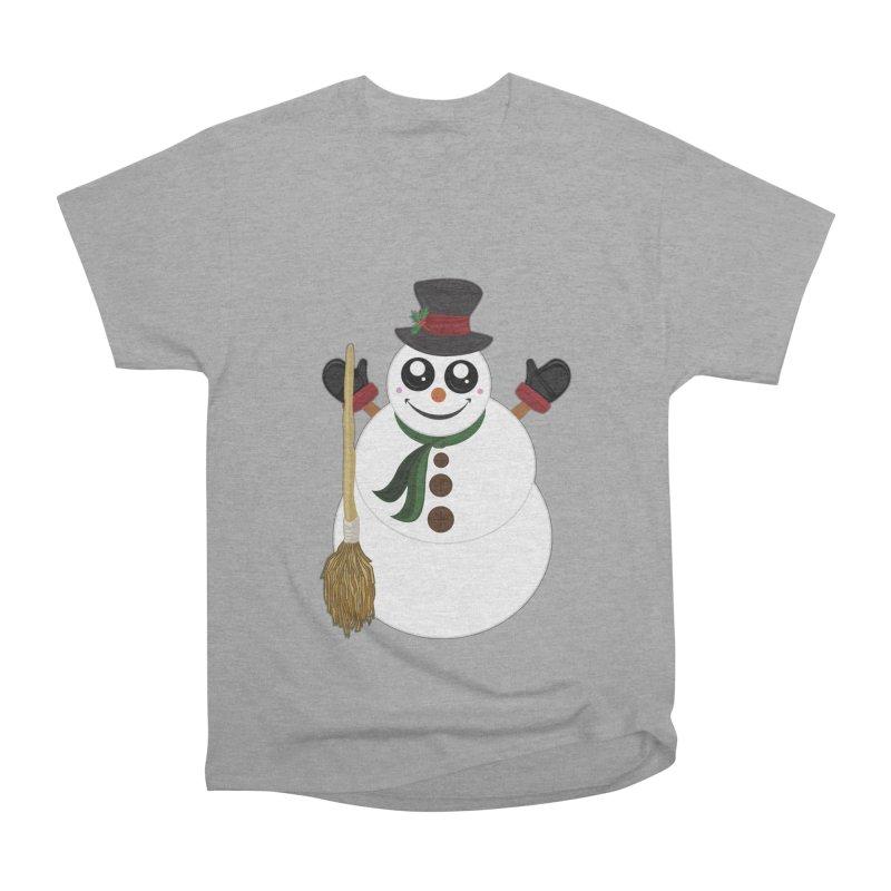 Snowman Women's Heavyweight Unisex T-Shirt by adamzworld's Artist Shop