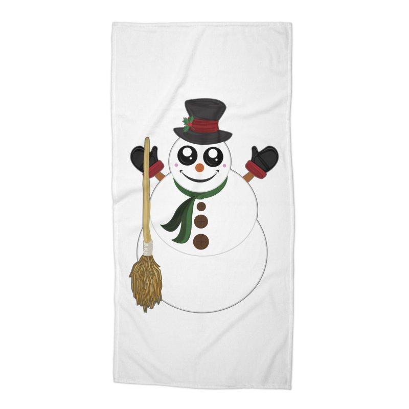 Snowman Accessories Beach Towel by adamzworld's Artist Shop