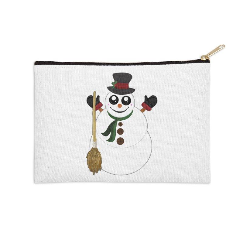 Snowman Accessories Zip Pouch by adamzworld's Artist Shop