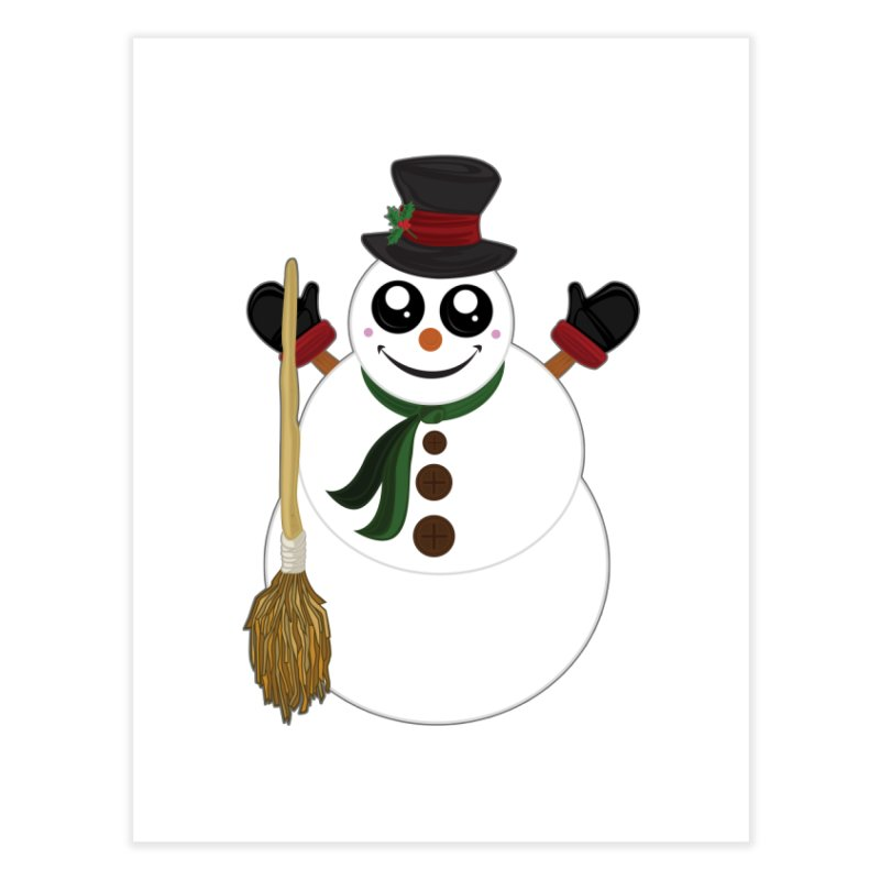 Snowman Home Fine Art Print by adamzworld's Artist Shop