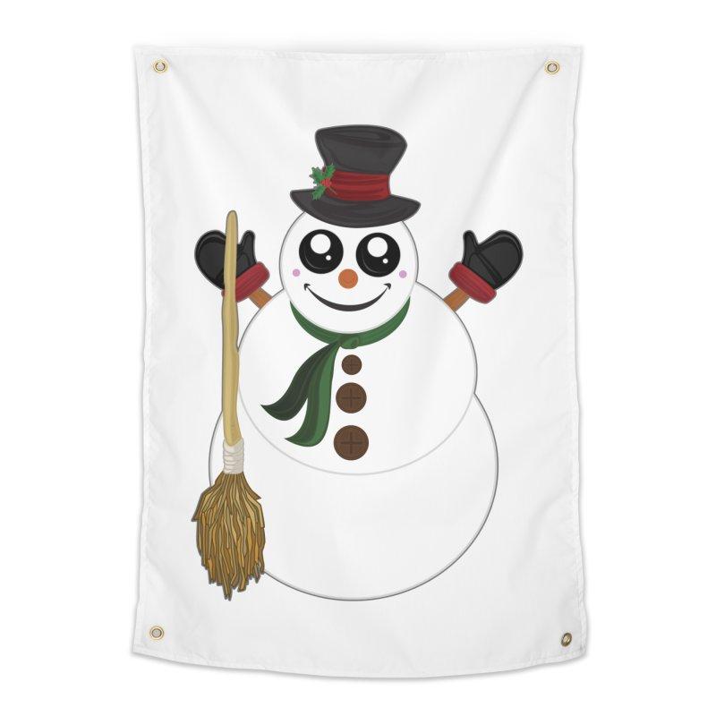 Snowman Home Tapestry by adamzworld's Artist Shop