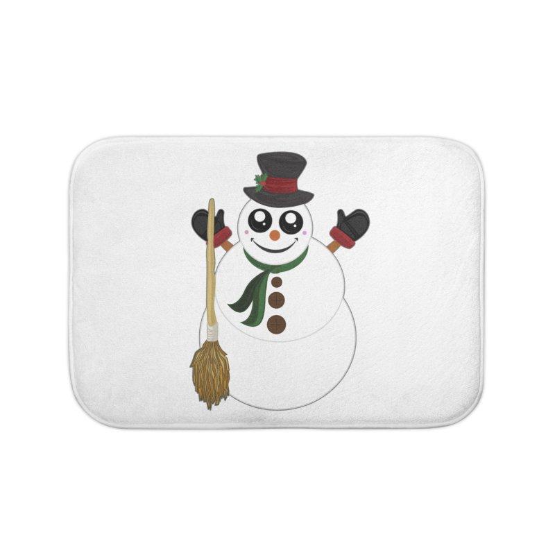 Snowman Home Bath Mat by adamzworld's Artist Shop