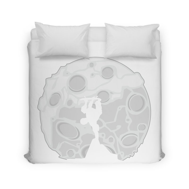 Skater Moon Home Duvet by adamzworld's Artist Shop