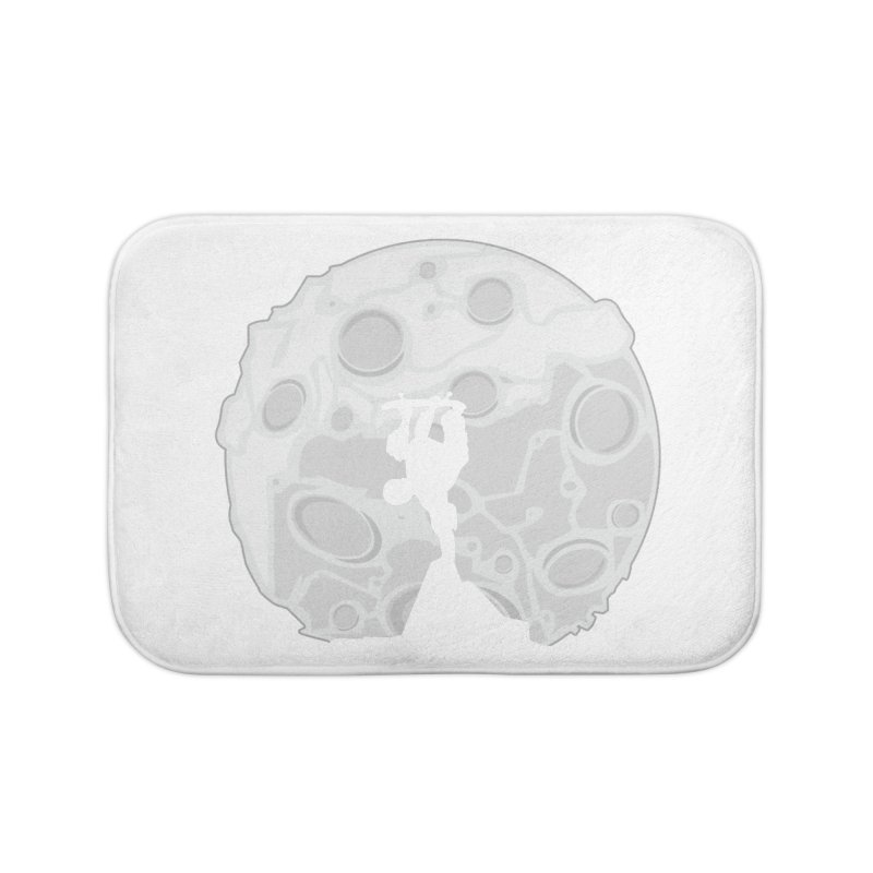 Skater Moon Home Bath Mat by adamzworld's Artist Shop