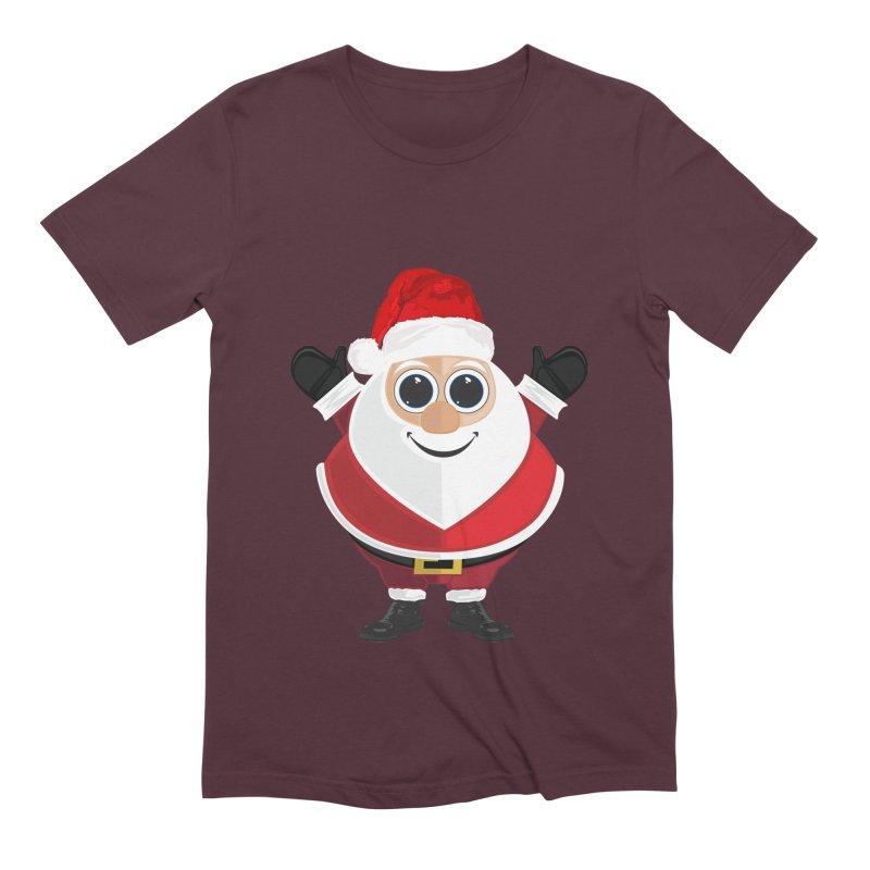 Santa Claus Men's Extra Soft T-Shirt by adamzworld's Artist Shop