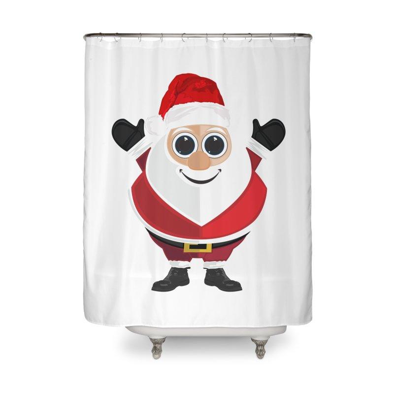 Santa Claus Home Shower Curtain by adamzworld's Artist Shop