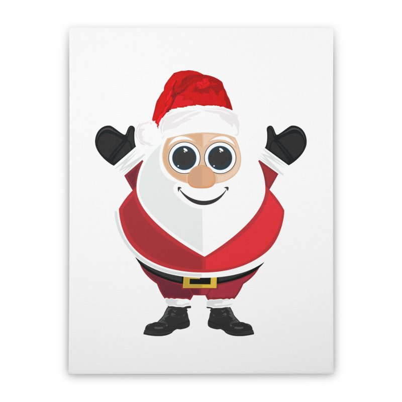 Santa Claus Home Stretched Canvas by adamzworld's Artist Shop