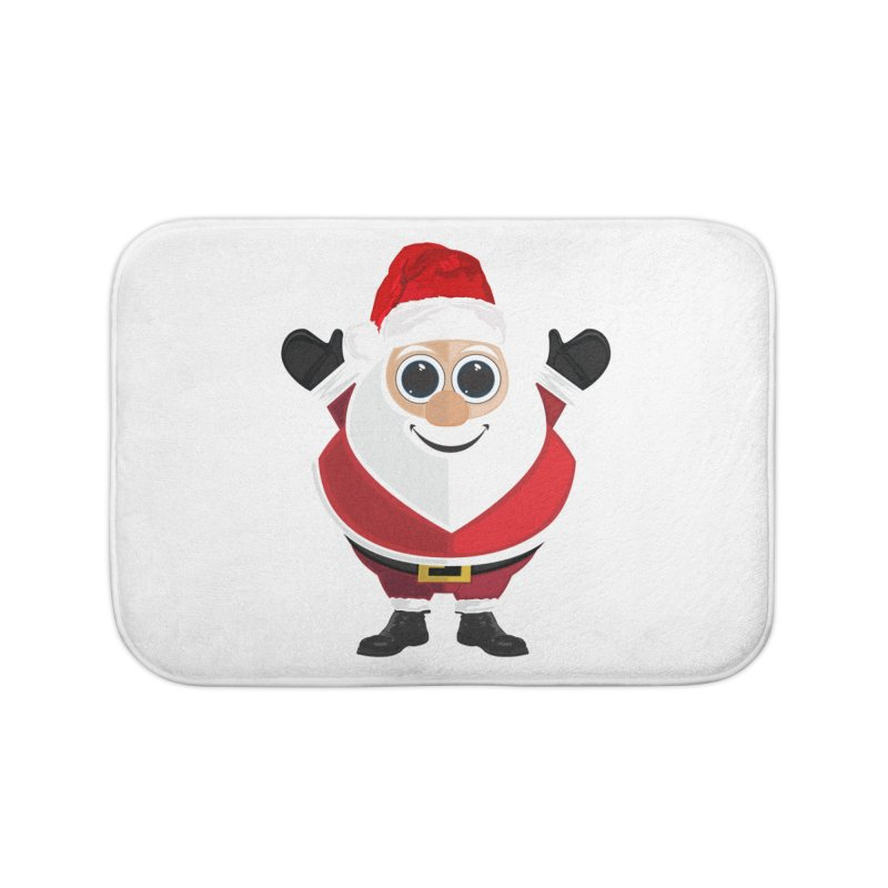 Santa Claus Home Bath Mat by adamzworld's Artist Shop