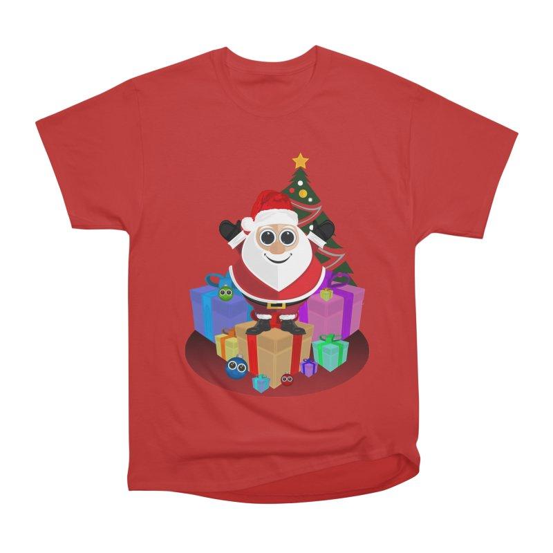 Santa Claus Christmas Women's Heavyweight Unisex T-Shirt by adamzworld's Artist Shop
