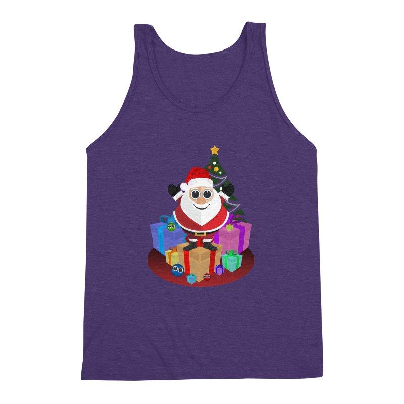 Santa Claus Christmas Men's Triblend Tank by adamzworld's Artist Shop