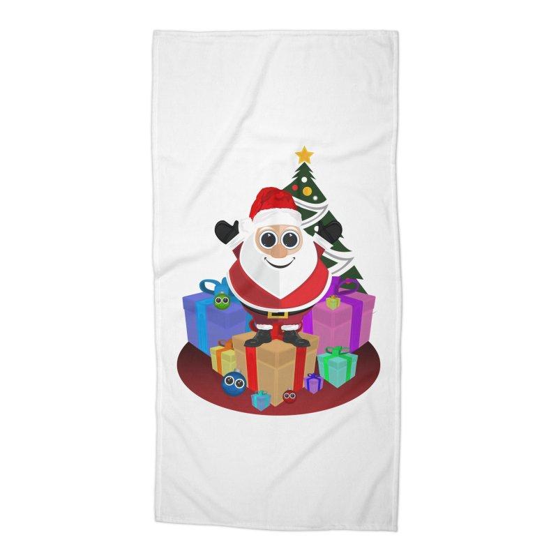 Santa Claus Christmas Accessories Beach Towel by adamzworld's Artist Shop