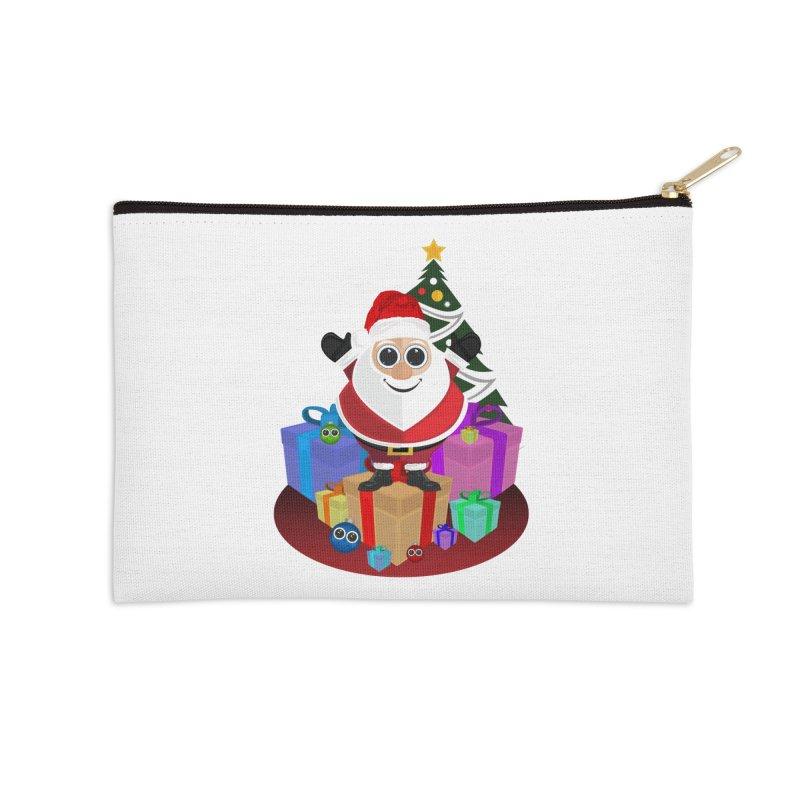 Santa Claus Christmas Accessories Zip Pouch by adamzworld's Artist Shop