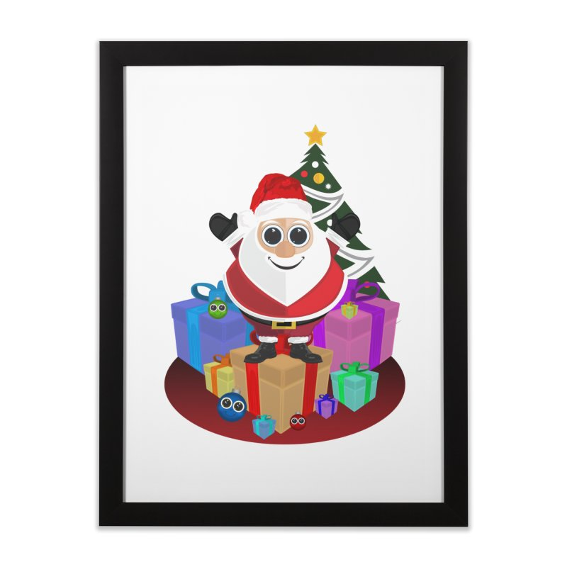 Santa Claus Christmas Home Framed Fine Art Print by adamzworld's Artist Shop
