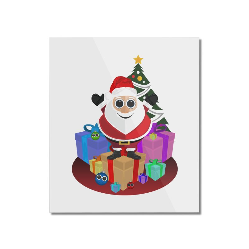 Santa Claus Christmas Home Mounted Acrylic Print by adamzworld's Artist Shop