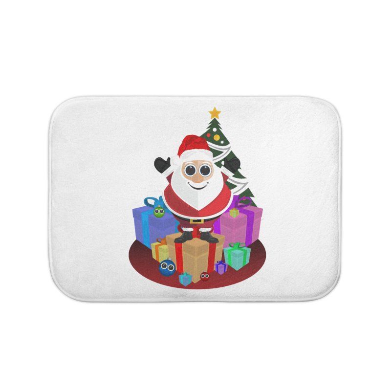 Santa Claus Christmas Home Bath Mat by adamzworld's Artist Shop