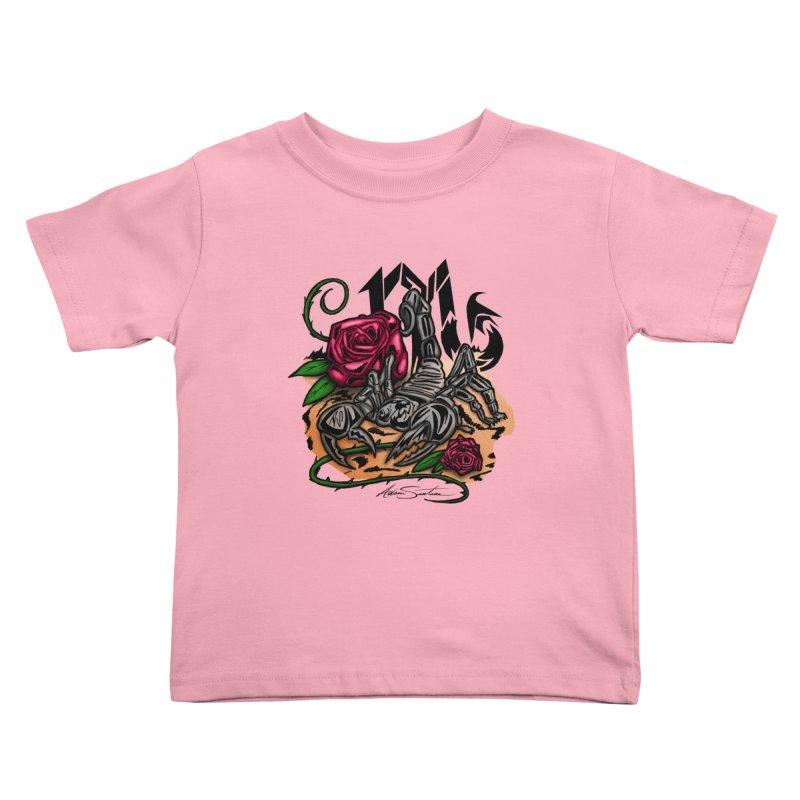 Scorpio - Zodiac Kids Toddler T-Shirt by adamzworld's Artist Shop