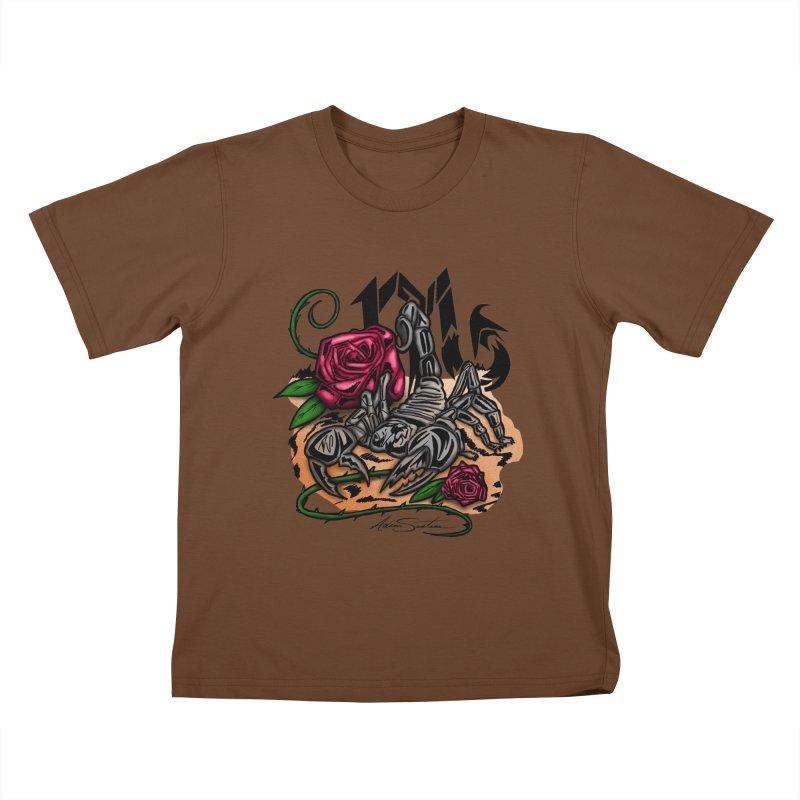 Scorpio - Zodiac Kids T-shirt by adamzworld's Artist Shop
