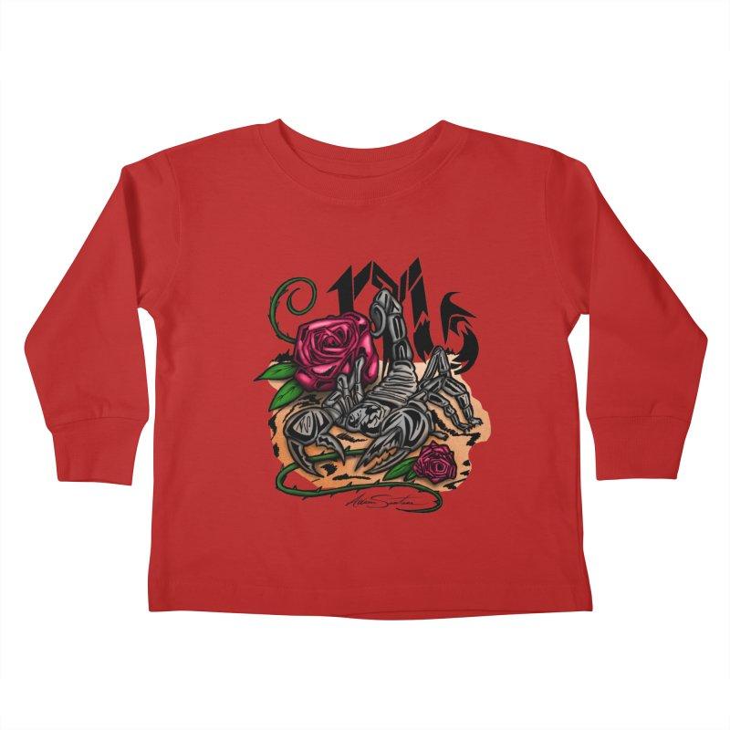 Scorpio - Zodiac Kids Toddler Longsleeve T-Shirt by adamzworld's Artist Shop