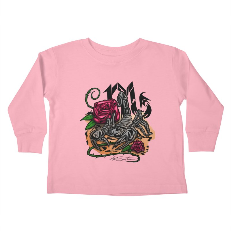 Scorpio - Zodiac Kids Toddler Longsleeve T-Shirt by adamzworld's Artist Shop