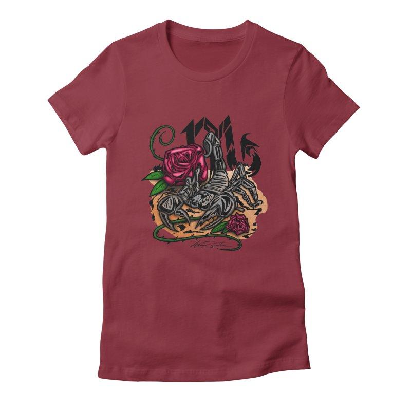 Scorpio - Zodiac Women's Fitted T-Shirt by adamzworld's Artist Shop