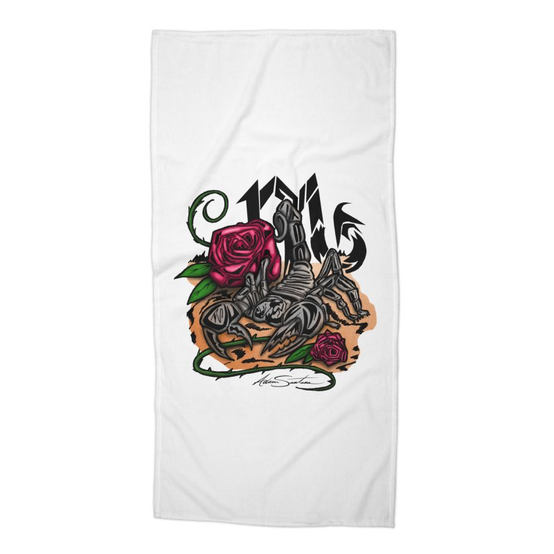 Scorpio - Zodiac Accessories Beach Towel by adamzworld's Artist Shop