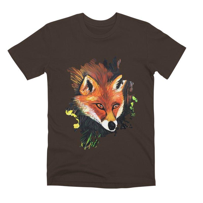 Fox In Nature Men's Premium T-Shirt by adamzworld's Artist Shop