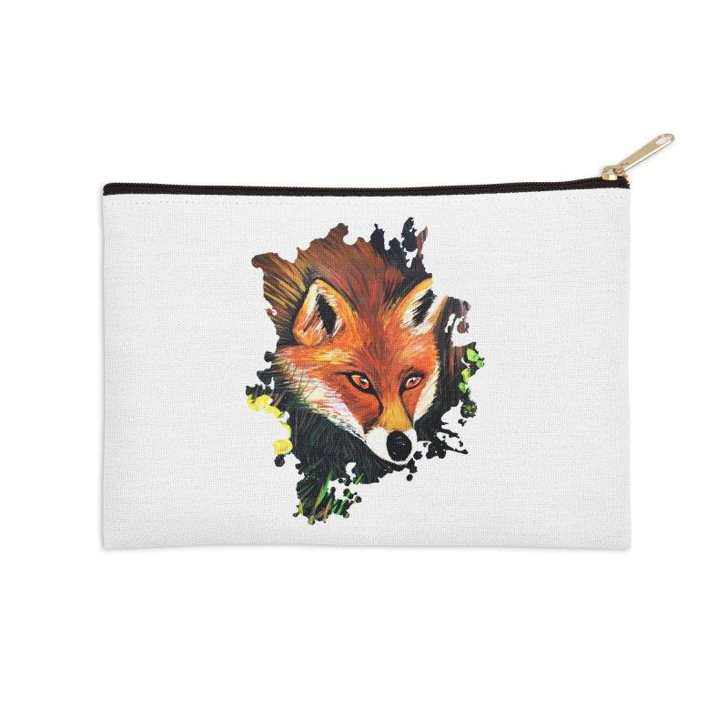 Fox In Nature Accessories Zip Pouch by adamzworld's Artist Shop