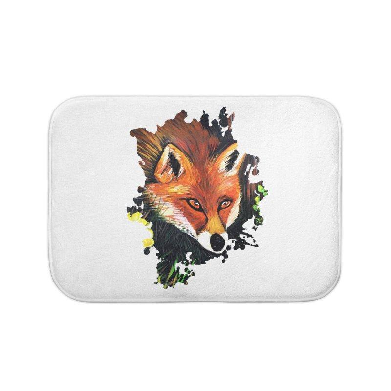Fox In Nature Home Bath Mat by adamzworld's Artist Shop