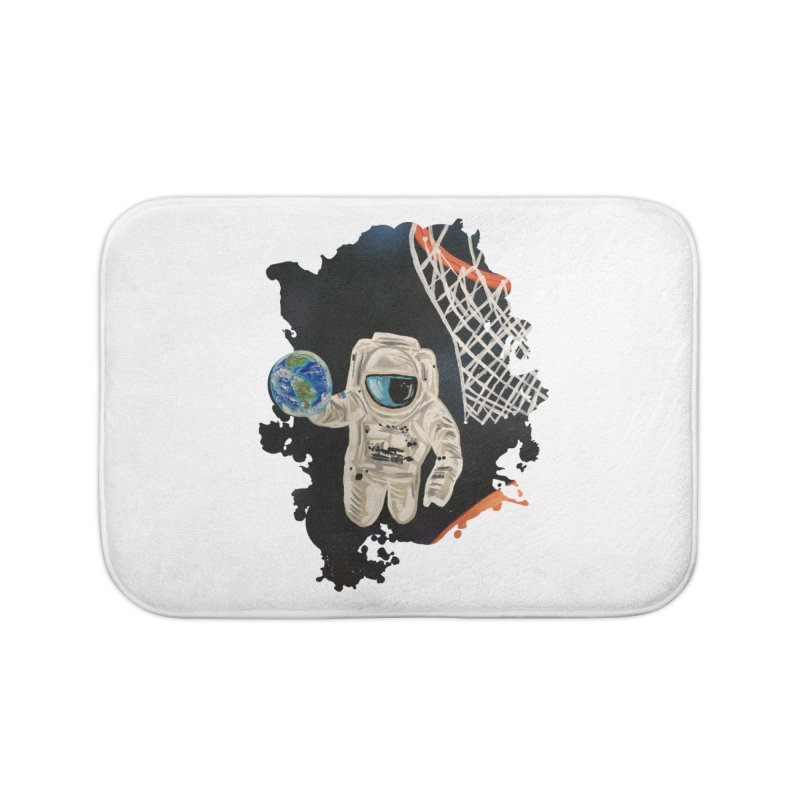 Space Games Home Bath Mat by adamzworld's Artist Shop