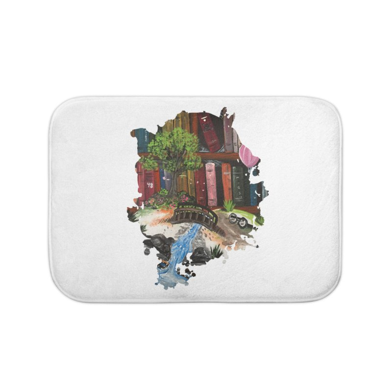 Book Experience Home Bath Mat by adamzworld's Artist Shop