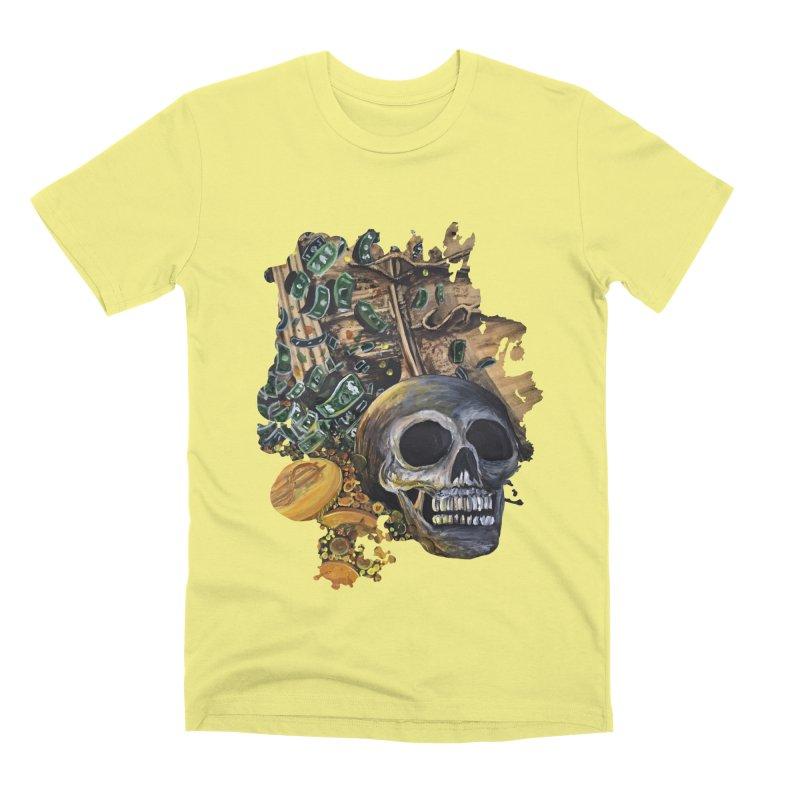 Time Is Money Men's Premium T-Shirt by adamzworld's Artist Shop