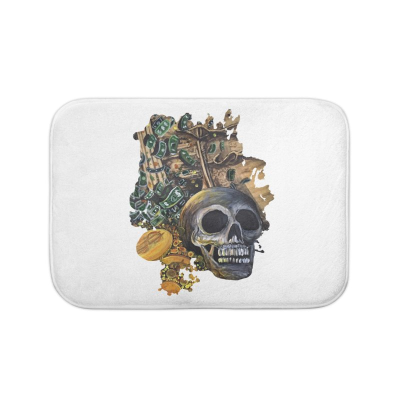 Time Is Money Home Bath Mat by adamzworld's Artist Shop