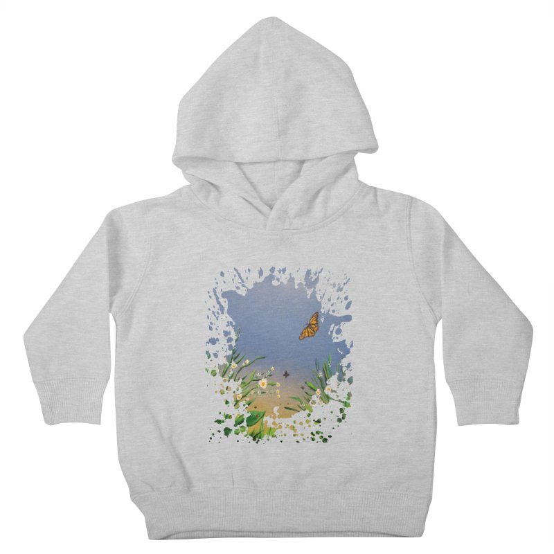 Butterfly Peace Kids Toddler Pullover Hoody by adamzworld's Artist Shop
