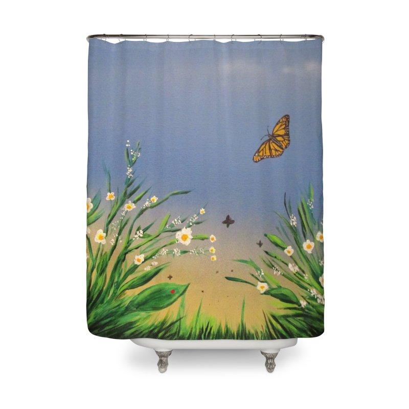 Butterfly Peace Home Shower Curtain by adamzworld's Artist Shop