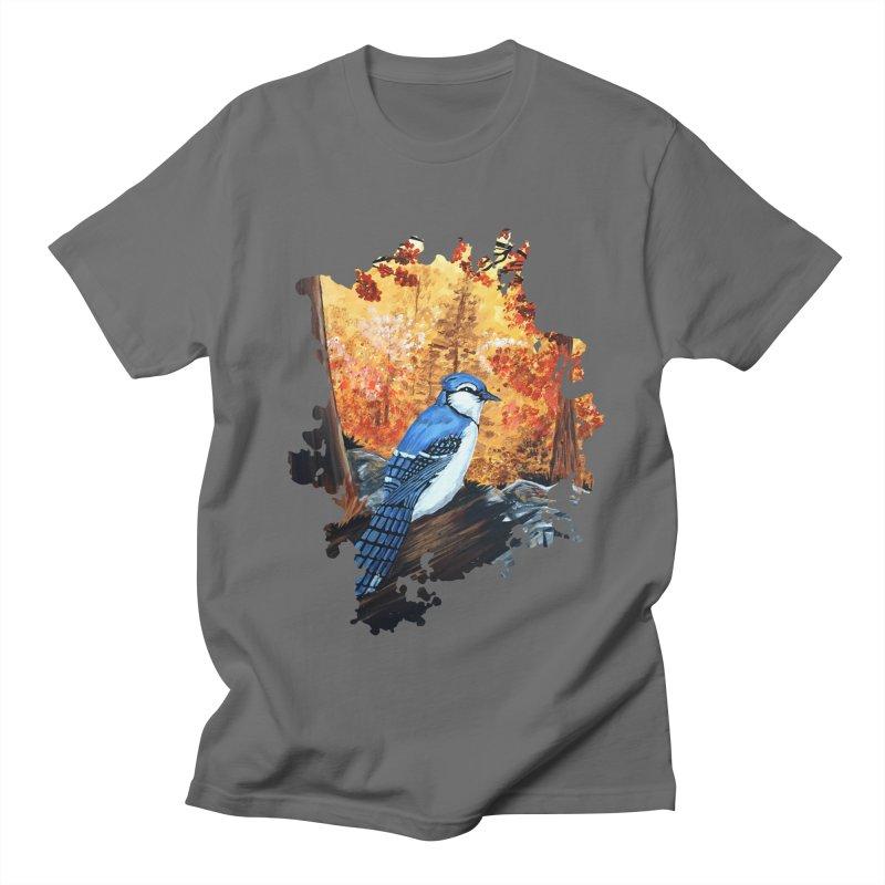 Blue Jay Life Men's T-Shirt by adamzworld's Artist Shop