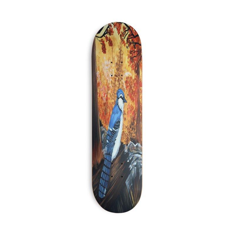 Blue Jay Life Accessories Skateboard by adamzworld's Artist Shop