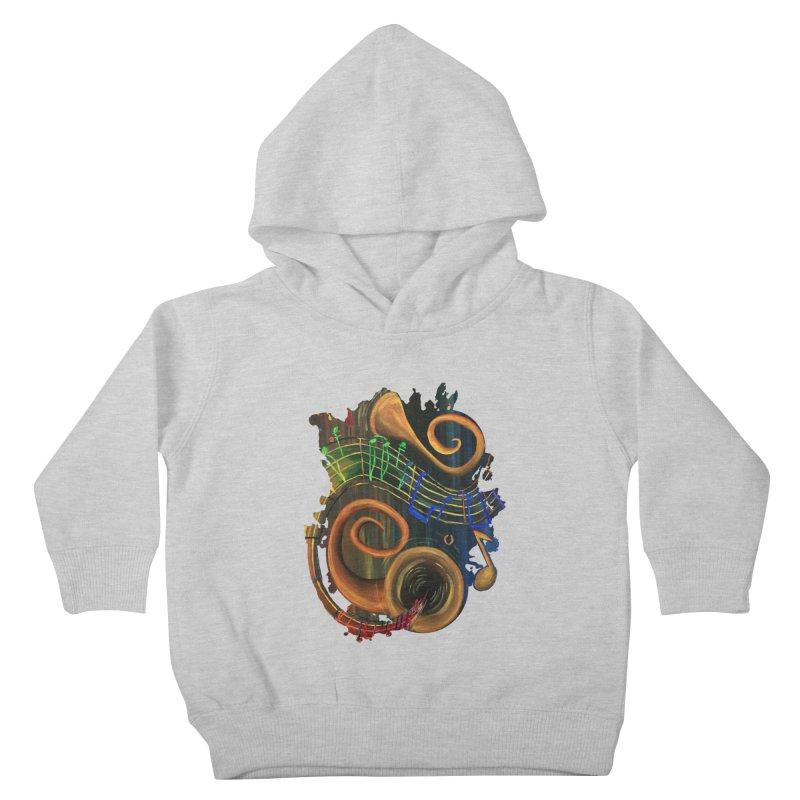 The ART of Music Kids Toddler Pullover Hoody by adamzworld's Artist Shop