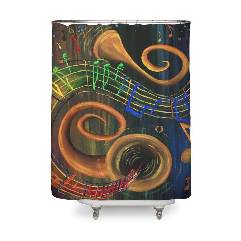 The ART of Music Home Shower Curtain by adamzworld's Artist Shop