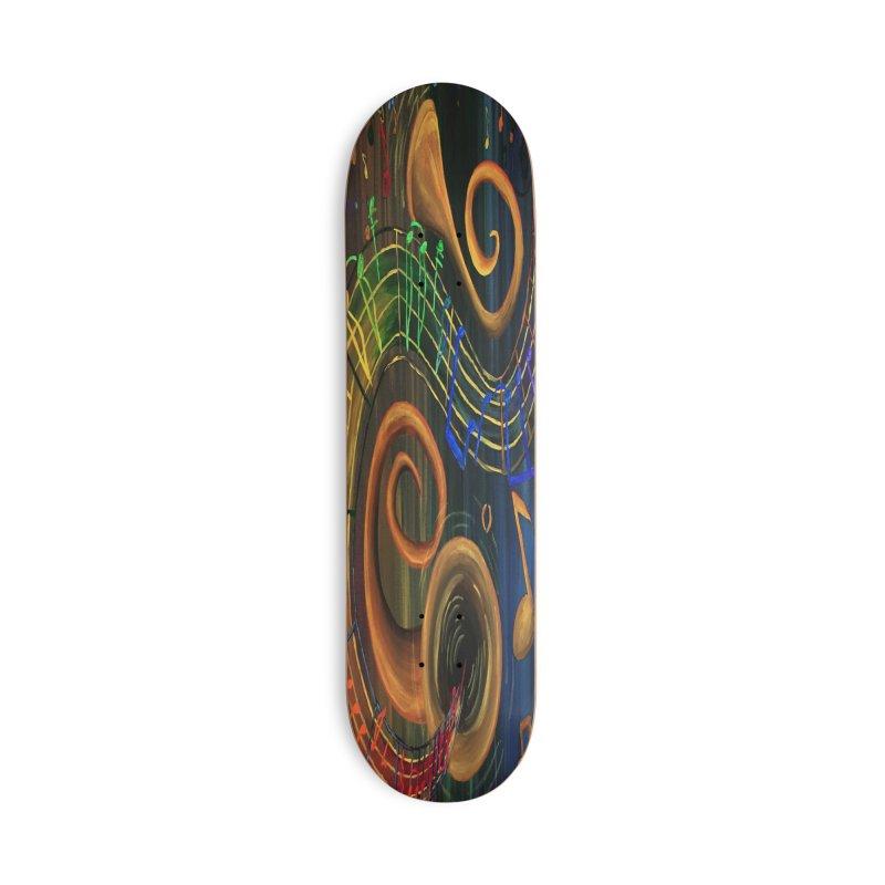 The ART of Music Accessories Skateboard by adamzworld's Artist Shop