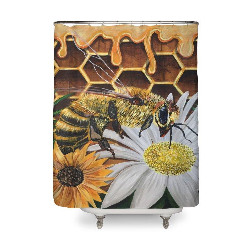 Busy Bee Home Shower Curtain by adamzworld's Artist Shop
