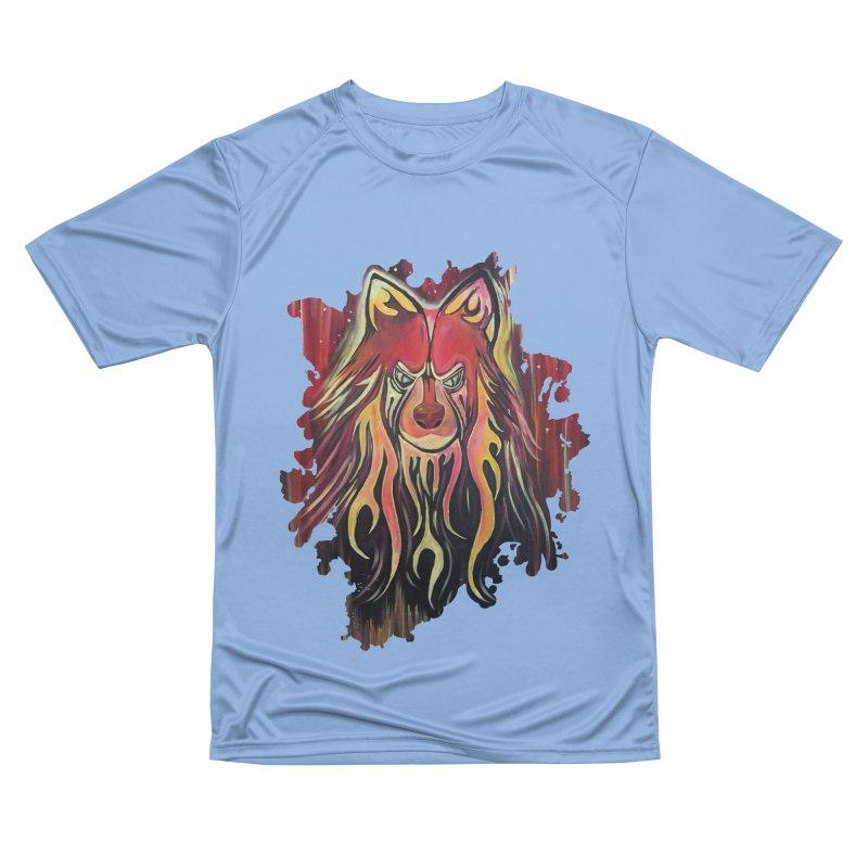 Fire Wolf Women's T-Shirt by adamzworld's Artist Shop