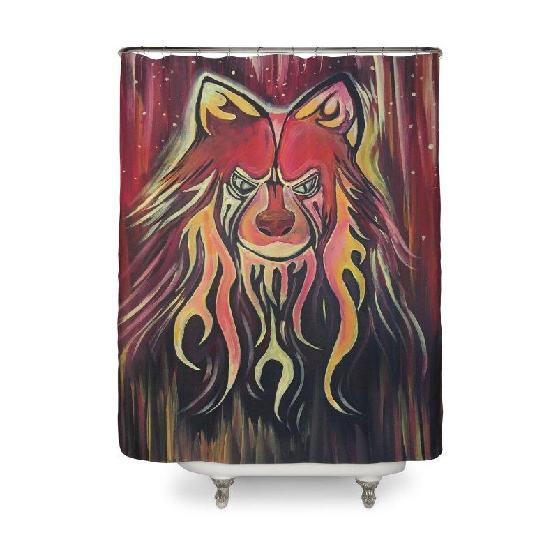 Fire Wolf Home Shower Curtain by adamzworld's Artist Shop