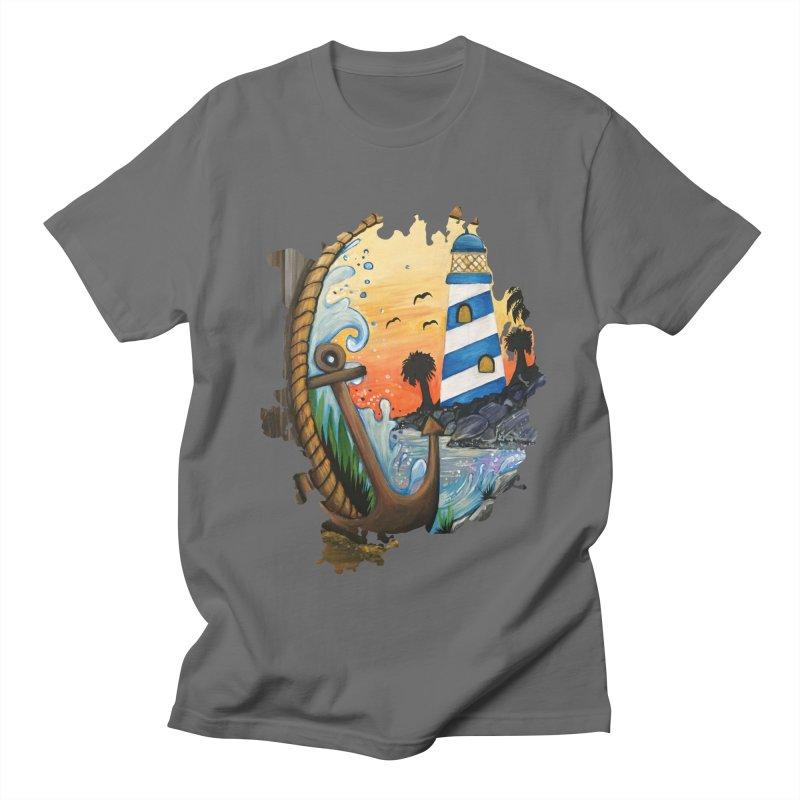 Light House View Men's T-Shirt by adamzworld's Artist Shop