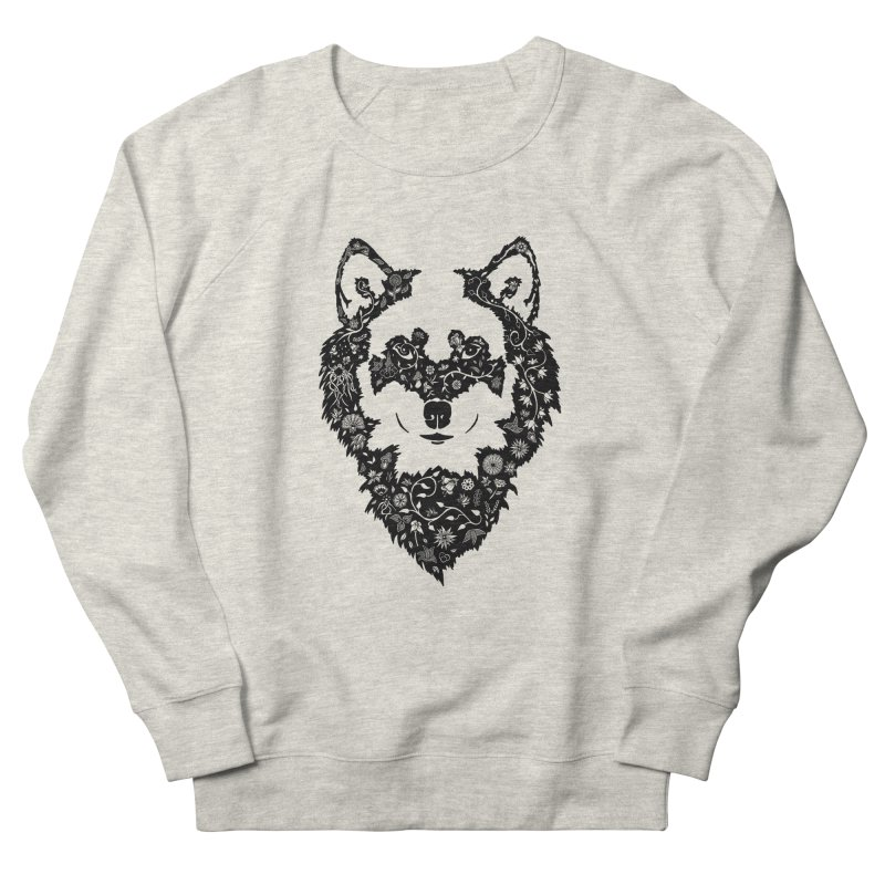 Wolf Men's Sweatshirt by Ad Eggermont's Artist Shop